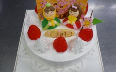【期間限定】ひな祭りのデコレーションケーキ予約が始まります。