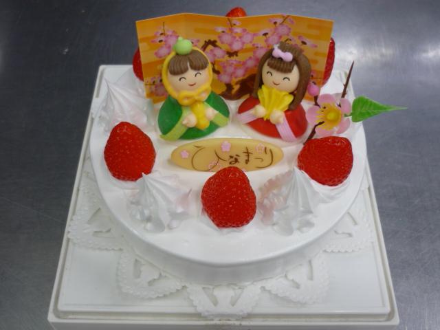 ひな祭りのデコレーションケーキ予約が始まります。(終了)